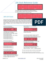 AOS and LOS Clock Reference Guide