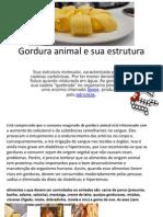 Gordura Animal e Sua Estrutura