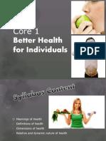 core 1 better health for australians ppt