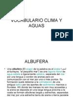 Vocabulario Clima y Aguas