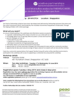 positive partnerships shepparton two day registration flyer