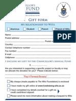 PIF Bursary Pledge Form