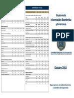 10 - Trifoliar de Información Económica y Financiera, Referido a Octubre 2013
