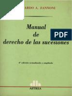 Manual de Derecho de Las Sucesiones - Eduardo Zannoni-1
