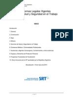 SRT - Listado de Normas Legales Vigentes - Año 2014