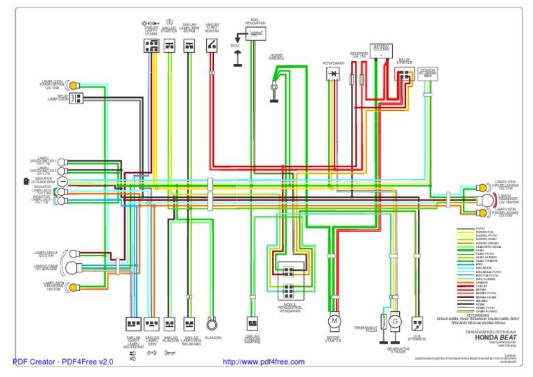 Wiring Diagram Motor Honda Injeksi