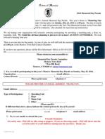 Monroe Parade Participation Form