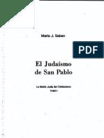 Sabán, Mario J - El Judaismo de San Pablo