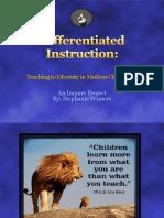 differentiated instruction presentation