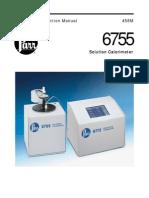 458M Parr 6755 Solution Calorimeter Inst