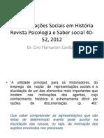 Representações Sociais Em História