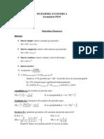 Formulas Ingenieria Economica