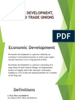 ECONOMIC DEVELOPMENT, WAGES AND TRADE UNIONS