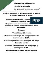 1er Concurso Literario