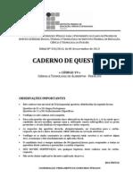 C019 - Ciencia e Tecnologia de Alimentos (Perfil 02) - Caderno Completo