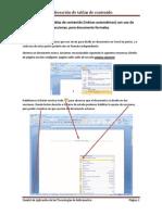 Elaboración de Tablas de Contenido (Indices Automáticos)