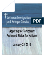 Applying for TPS for Haitians