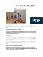 How to Find Your Yoga Teaching Style