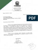 14.05.2014 -Ofício Encaminhado Pelo Governadcor de PE à Presidenta Dilma Roussef