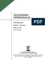 Ecuaciones Diferenciales  y aplicaciones- Blanchard