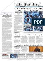 The Daily Tar Heel Summer Edition for May 15, 2014