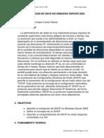 Instalación Del Servicio DHCP en Windows(Cunia)