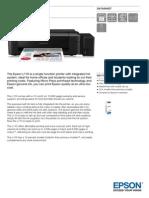 Epson L110 Datasheet