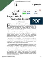 La Jornada_ El Párrafo Más Importante de Cien Años de Soledad