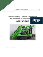 Anleitung GTR 780 Englisch