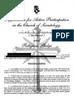 Scientology Österreich - Mitarbeitervertrag Englisch