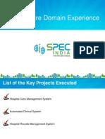 Health Care Domain Experience - SPECINDIA