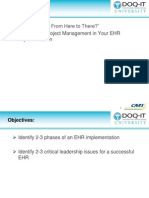 DOQ-IT University the Role of Project Management in Your EHR Implementation