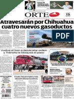 Periódico Norte de Ciudad Juárez edición impresa del 15 mayo de 2014