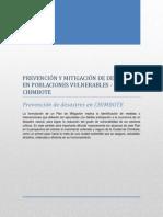 Prevención y Mitigación de Desastres en Poblaciones Vulnerables