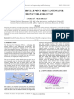 Microstrip Circular Patch Array Antenna for Electronic Toll Collection