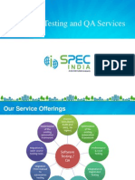 QA Capabilities SPEC INDIA Case Study