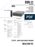Sony DSR-11 Service (Repair) Manual