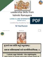 Valmiki Ramayan Leadership