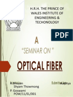 Seminar Report on Fiber Optics