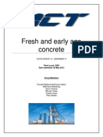 Fresh and Early Age Concrete