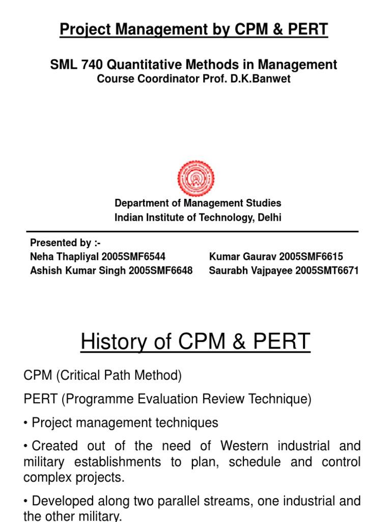 Project Management By Cpm  U0026 Pert
