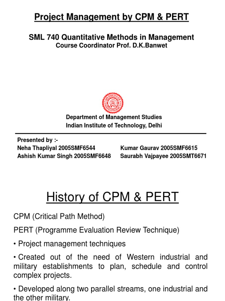 cpm and pert method