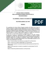 Educación Báscia - Región Seis - Relatoría General