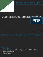 Initiation Aux Langages Informatiques - 1 - Introduction