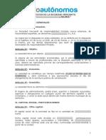 Modelo Estatutos Sociedad Limitada Nueva Empresa (S.L.N.E.)