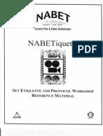 Nabetiquette- organización y protocolos en set