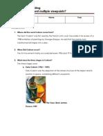 cubism study sheet