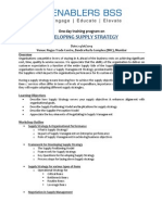 Developing Supply Strategy_14th June