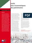 Étude nationale des retombées économiques et sociales du patrimoine / DAPA 2009