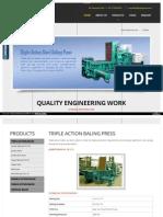 Triple Action Hydraulic Baling Press India